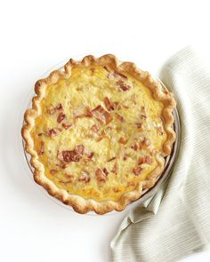 This versatile dish goes from brunch buffet to dinner table in a snap and is great with a leafy green salad -- Bacon-Cheese Quiche Recipe