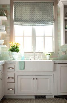 Blue Green Tile Backsplash - Yahoo Image Search Results