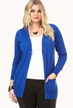 V-Neck Cardigan | FOREVER21 PLUS - 2072727603   This cardigan looks nicer than the ones at old navy.