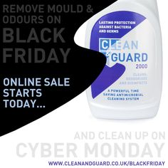 INSTAGRAM VERSION OF BLACK FRIDAY POSTER  Clean & Guard 2000 750ml Trigger Spray only £3.99*   BlackFriday through CyberMonday Sale starts today at Amazon http://www.cleanandguard.co.uk/blackfriday   #household #deepclean #cleaner #disinfectant #deodoriser  #pet #cat #dog #horse #equine #equinehour  #safe #biodegradable #BSEN1276 #BSEN13697  #blackfriday #blackfridayuk #sale #deals   *56% Discount between Friday 28th Nov - Wednesday 3rd Dec