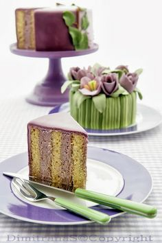 Vertical layers cakes