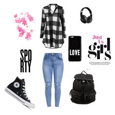 """SPORTY"" by diamond-mara ❤ liked on Polyvore featuring Converse, Givenchy, Beats by Dr. Dre and Prada"