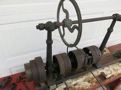 Antique Lathe Full Size Line Shaft Jack Shaft Flat Belt Driven Hit & Miss Belt Drive, Lathe, Engineering, Home And Garden, Tools, Antiques, Ebay, Atelier, Antiquities