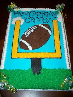 Football Cake by Cakes By Jen, via Flickr