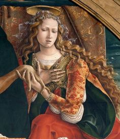 From the Renaissance to the present day: Carlo Crivelli (Venice, 1430 / Ascoli Piceno, Portrait Renaissance, Italian Renaissance Art, Renaissance Kunst, Renaissance Paintings, Medieval Art, Marie Madeleine, Mary Magdalene, Art Japonais, Italian Artist