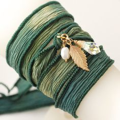 silk ribbon bracelet, perhaps for bridesmaids gifts, uniquely made, when my daughter gets married one day :)