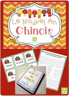 $ Le Nouvel An Chinois - Chinese New Year French Resource - have kids answer questions that they'll unscramble about the Chinese New Year and create a fun mini-book. #français #francais