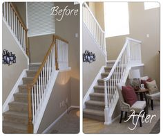 High Quality How To DIY Your Banister   Easy Steps To Paint Your Staircase White.  Marlowe