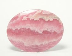Banded Rose Pink Rhodochrosite Natural Stone Cabochon / from Argentina / 61 carats /42