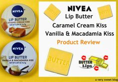 Nivea Lip Butter Caramel Cream Kiss and Vanilla & Macadamia Kiss Product Review