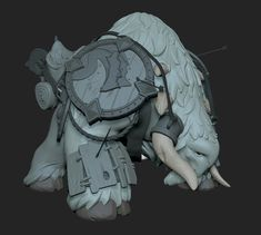 A project I have been slowly working on. My idea of a yeti type creature that would be used as a beast of burden or mount, in this case a mount. Just a sculpt for now, looking at retopping it and texturing it soon. Standing Poses, A Beast, 3d Artwork, Character Ideas, Character Art, Sculpting, Lion Sculpture, Creatures, Statue