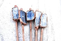 Copper Hair Stick  Kyanite Hair Stick  Hair by LoveandCherish                                                                                                                                                                                 More