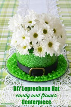 Patrick's Day Centerpiece: Blooming and Edible Leprechaun Hat! – Home is Where the Boat Is patricks day images st pats DIY St. Patrick's Day Centerpiece: Blooming and Edible Leprechaun Hat! Sant Patrick, Edible Centerpieces, St Patricks Day Crafts For Kids, St. Patricks Day, St Patrick's Day Decorations, Leprechaun Hats, Kobold, St Paddys Day, Pot Of Gold