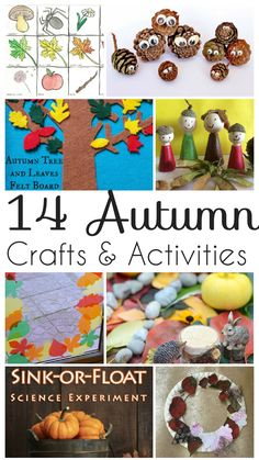 14 Autumn Crafts and Activities for kids to do during Fall.