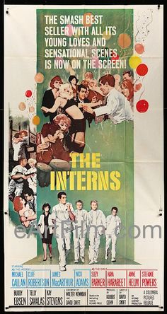 Interns The 1962 US 3 Sheet Cliff Robertson-James MacArthur Ted Knight, James Macarthur, Fred Williamson, Cliff Robertson, Original Movie Posters, Film Posters, Cinema Posters, Buddy Ebsen, Tom Skerritt