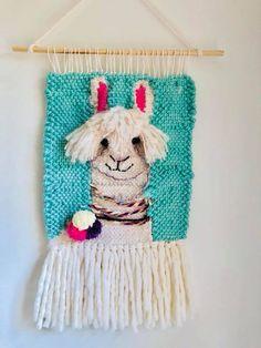 Crochet Wall Hangings, Weaving Wall Hanging, Weaving Art, Tapestry Weaving, Loom Weaving, Woven Image, Llama Decor, Loom Love, Weaving Projects