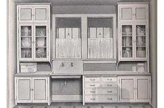 """researching kitchens from the particularly the Craftsman kitchen. it was a Sears Craftsman Bungalow plan."""" - My-House-My-Home 1920s Kitchen, New Kitchen, Vintage Kitchen, Kitchen Decor, Kitchen Ideas, Kitchen Inspiration, Kitchen Photos, Kitchen Sink, Maple Kitchen"""