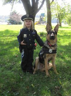 Police officer & K-9 officer costume, halloween
