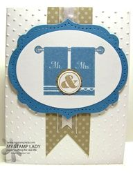 towels for two stampin up | Towels For Two Handmade Wedding Card rubber stamped by www.mystamplady ...