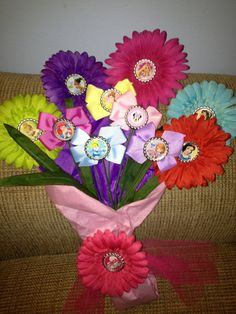 Deluxe Princess Inspired Hair Bow Bouquet Dance by allisonmcnally, $27.99