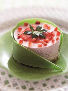 Cheesecake με φράουλες - www.olivemagazine.gr