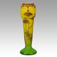 floral vases | verre-francais Flower Vase : Schneider Glass : Antique Glass : Hickmet ...
