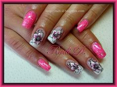 It`s all about nails: Pink gel polish & Flowers http://radi-d.blogspot.com/2014/05/pink-gel-polish-flowers.html