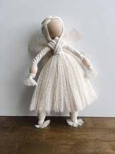 Your place to buy and sell all things handmade Macrame Wall Hanging Patterns, Yarn Dolls, Angel Crafts, Macrame Design, Micro Macrame, Handmade Toys, Christmas Crafts, Diy Crafts, Knots