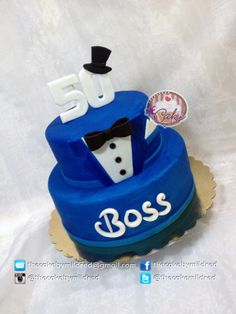"Tuxedo for a Boss! - My client saw a ""bake a boo cakes"" and asked me to make it…"