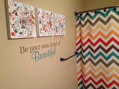 Bathroom! Have the kids splatter paint