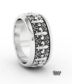 Flor de Lis - simbolo sagrado da linhagem real de Jesus e Madalena, nesse bracelete ficou muito especial. #fleur-de_lis #accessories #jewelry #ring