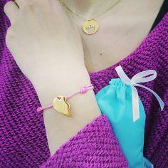 Half of a heart bracelet with engraving   #jewelry #byilo #ilo #jewellery #bracelet #love #cute #beautiful #girl #boy #polishgirl #polishboy