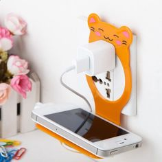 You or Your Kids Will Love This Creative Bear Mobile Phone Charger Holder
