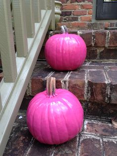 Paint your pumpkins pink for breast cancer awareness month