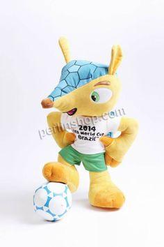 Plüsch Maskottchen der Weltmeisterschaft 2014, 2014 Brasilien Weltmeisterschaft Geschenk, 370x300x520mm, verkauft von Stück - perlinshop.com...