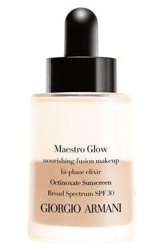 Giorgio Armani 'Maestro Glow' Nourishing Fusion Foundation Bi-Phase Elixir Broad Spectrum SPF 30
