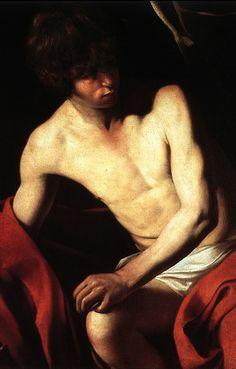 Caravaggio, St. John the Baptist (detail) c. 1604.