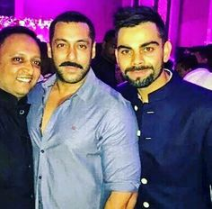 Virat kohli with Salman khan