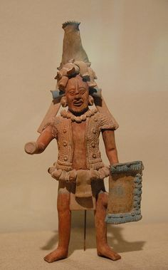 Jaina Warrior Ceramic figure depicting an ancient Maya warrior. Jaina island style.