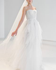 Reem Acra is a renowned international designer known for her breathtaking collections in Ready-to-Wear and Bridal. Reem Acra Wedding Dress, Wedding Gowns, Wedding Bride, Central Park, Wedding Blog, Parks, One Shoulder Wedding Dress, Evening Dresses, Tulle