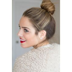 Best Messy Bun Hairstyles Our Top 10 ❤ liked on Polyvore featuring hair and hairstyles