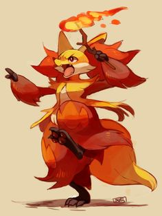 yellowfur: bonus from my livestream - delphox! burn the...