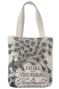 I love this vintage Pride & Prejudice tote; if shipping weren't so bloody expensive to Canada, I'd have bought it already.
