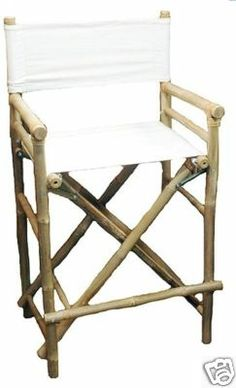 Barstools Tall 2 Eco Bamboo Bar Stools Directors Chair for tiki hut bar