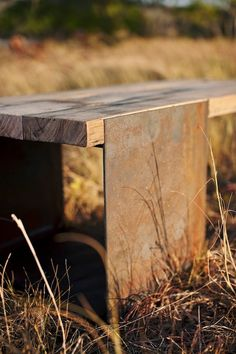 Gooseneck coffee table, rustic modern. $775.00, via Etsy.