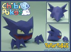 093 / HAUNTER - Chibi - Pokémon Papercraft  Name:  Haunter  Type:  Ghost/Poison  Species:  Gas Pokémon  Height:  1.6 m (5′03″)  Weight:  0....
