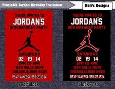 Printable Jordan Basketball Jumpman Birthday by MalisDesigns Printable Frozen Birthday Invitation by MalisDesigns on Etsy. Like us on FACEBOOK at https://www.facebook.com/MalisDesigns