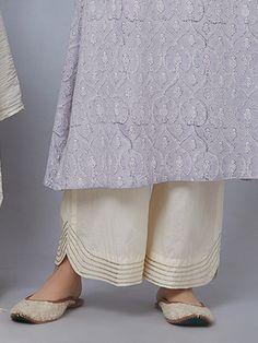 Peach Cotton Gota Kurta - All About Salwar Designs, Kurti Neck Designs, Kurti Designs Party Wear, Dress Neck Designs, Designs For Dresses, Blouse Designs, Salwar Pattern, Salwar Pants, Funky Dresses