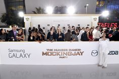 Samsung created a designated area on the red carpet to accommodate fans who won the chance to attend the premiere and have photos taken with the film's stars.   Photo: Michael Buckner/Getty Images for Samsung