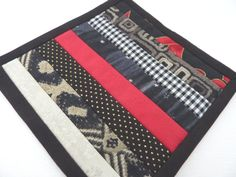 Mini Mug Quilt  Patchwork Coaster in Black by FireHorseTextiles, £7.00